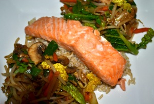 Simple Salmon Stir-fry