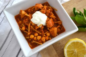 Spicy Chicken, Tomato & Chickpea Soup