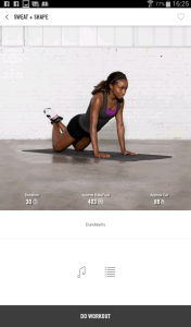 I like that you can workout to your own music (Image courtesy of Nike+ TC)