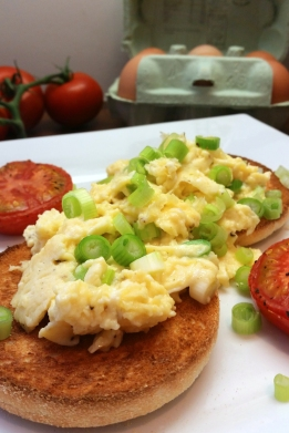 Scrambled Eggs with Spring Onion